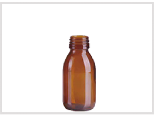 Amber Glass Syrup Bottle 100ml, Din28