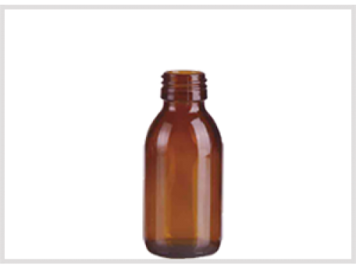 Amber Glass Syrup Bottle 125ml, Din28