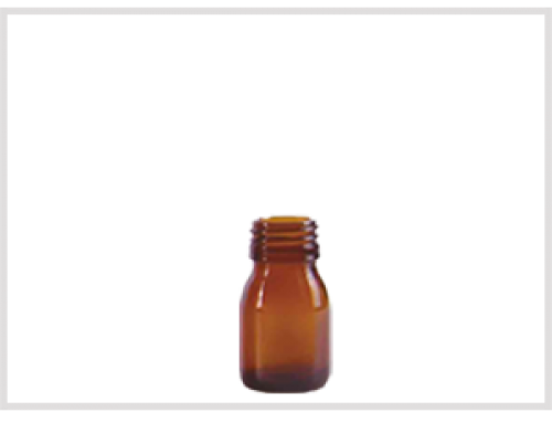 Amber Glass Syrup Bottle 30ml, Din28