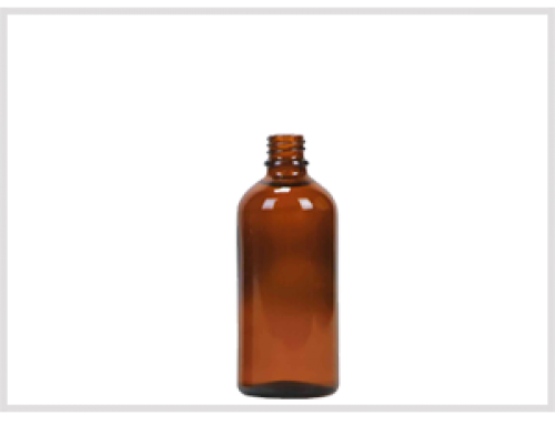 Amber Glass Essential Oil Bottle 100ml, Din18