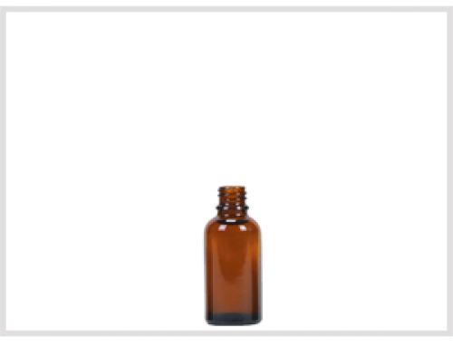 Amber Glass Essential Oil Bottle 30ml, Din18