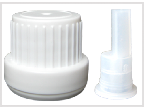 Total Big White Screw Cap with Safety Ring + Seal Plug Dropper, for Essential Oil Bottles, Din18
