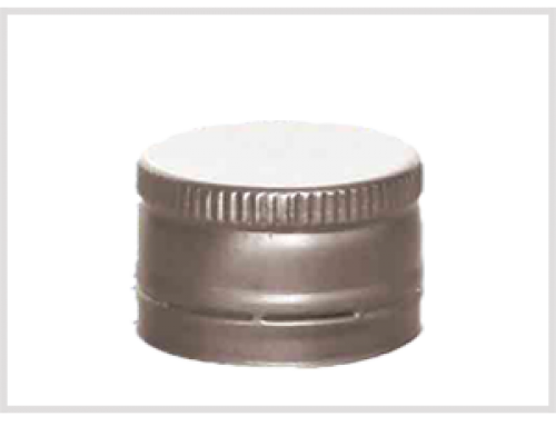 ALU Silver Cap for Glass Syrup Bottles, DIN28
