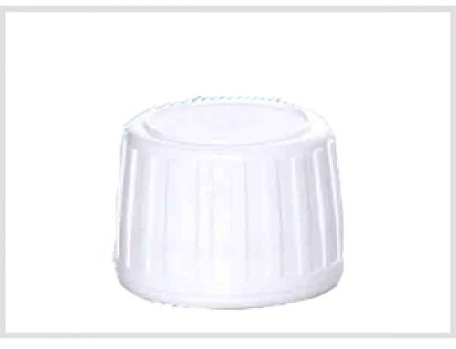White Safety Cap, Tamper evident, for Glass Syrup Bottles, DIN28