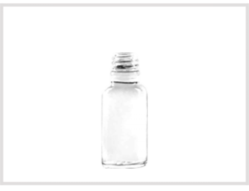Clear Glass Essential Oil Bottle 20ml, Din18