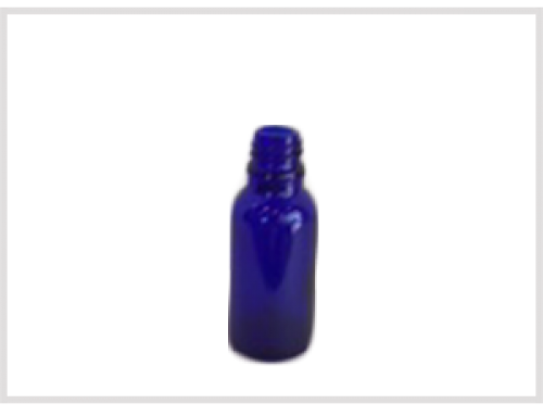 Cobalt Blue Essential Oil Bottle 20ml, Din18