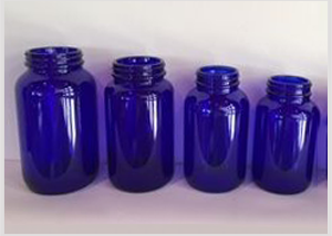 Cobalt Blue Glass Bottles for tablet Feature Image