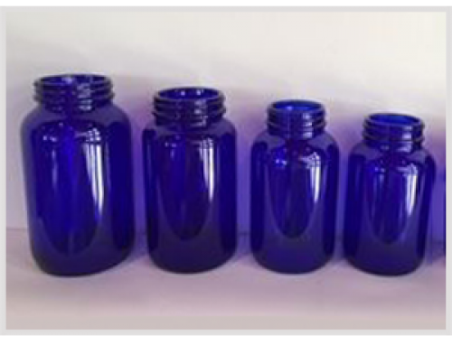 Cobalt Blue Glass Bottles for Tablet, GPI 400
