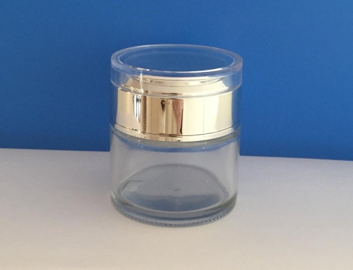 Clear Glass Jars 50ml new, with silver cap
