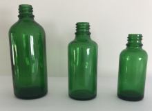 Green Essential Oil Bottles, 30-50-100ml, DIN 18