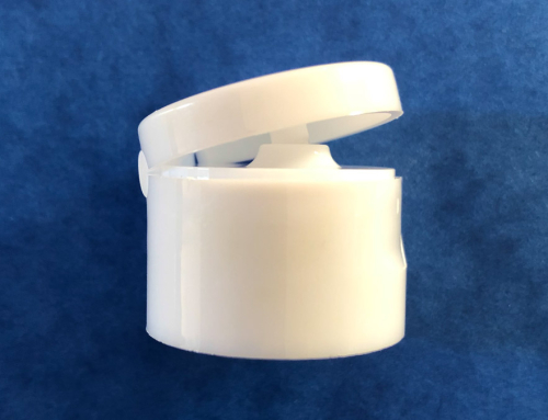 White Flip Top Cap 24/410
