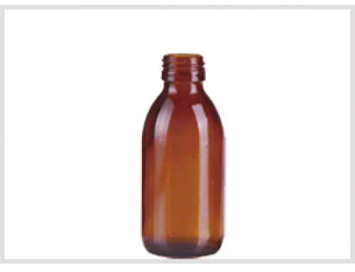 Amber Glass Syrup Bottle 150ml, Din28