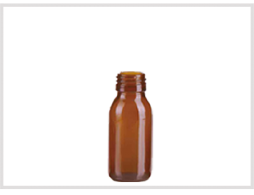 Amber Glass Syrup Bottle 60ml, Din28
